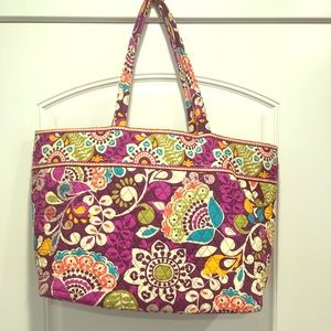 Vera Bradley Grand Tote in plum crazy